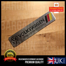 VW R LINE GERMANY SPORT BRUSHED BADGE POLO GOLF JETTA TSI GTI TDI PASSAT EXHAUST