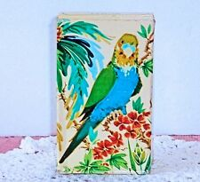 Vintage Avon Island Parakeet Decanter Moonwind 1.5 oz Cologne Full With Box