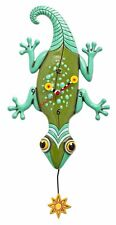 Allen Designs Sun Lizard Pendulum Childs Kids Whimsical Wall Clock