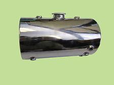 STAINLESS STEEL Custom Round Oil Tank for Harley Chopper Bobber