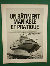 6/1984 PUB BOEING MARINE SYSTEMS JETFOILS HYDROFOILS ORIGINAL FRENCH ADVERT