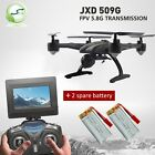 JXD 509G RC Drone Quadcopter w/ Monitor Camera 5.8G Altitude Hold+2Spare Battery