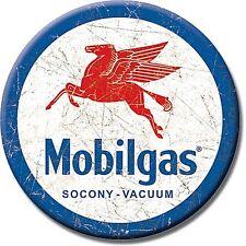 Mobilgas Pegasus round fridge magnet      (de)