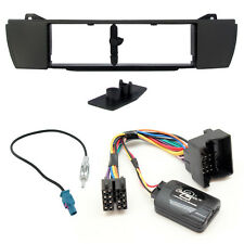 BMW Z4 E85 E86 Single Din Car Fascia Panel Adaptor Kit + Steering Wheel Control