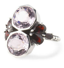 NWT STEPHEN DWECK Sterling Silver Lavender Quartz And Garnet Bumblebee Ring Sz 7