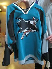U2 Bono San Jose Sharks AUTHENTIC Hockey Jersey ULTRA RARE!!! con fightstrap