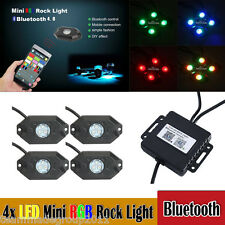 4 Pod RGB Rock Light LED Off Road Jeep ATV golfcart Truck Vehicle Rock Crawler