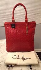 Cole Haan Genevieve NWT! Woven Leather Weave Tote Hobo Shoulder Hand Bag Purse