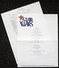 STAR WARS REPRO 1977 . MOVIE TEST SCREENING INVITATION & QUESTIONNAIRE . NOT DVD