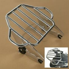 Chrome Detachable Two Up Tour Pak Mounting Luggage Rack For Harley Touring 09-17