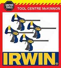 "4 x IRWIN QUICK-GRIP 6"" / 150mm ONE HANDED BAR CLAMP"
