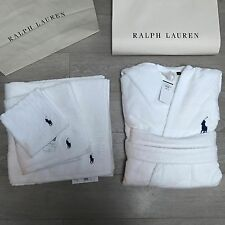 BNWT Ralph Lauren Gorgeous cotton Bath robe WHITE L/XL RRP£105 100% Genuine