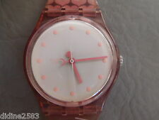 SWATCH MONTRE BRACELET GENT COEUR ROSE FEMME FILLE JUST BORN 2 GP112 HEART WATCH