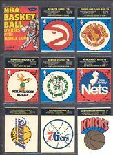 1979 - 1980 FLEER  BASKETBALL TEAM STICKER COMPLETE SET + DISPLAY BOX + WRAPPER