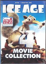 4-Movie Collection ICE AGE 1, 2, 3 & 4 - DVD + Digital HD BRAND NEW
