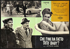 CINEMA-fotobusta CHE FINE HA FATTO TOTò BABY? - ALESSI