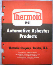 1951 THERMOID Brake Linings Clutch Facings ASBESTOS Cars Buses Trucks Mack Truck