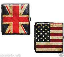 ETUI A CIGARETTE DRAPEAU USA UK ANGLETERRE ETATS UNIS METAL