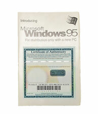MICROSOFT WINDOWS 95 OPERATING SYSTEM MANUAL GUIDE BOOK INSTRUCTIONS COA