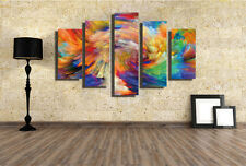 Abstract Wall Decor Art Oil Painting on Canvas 5 Parts NO frame Abstract Vintage