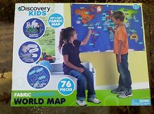 Activity Discovery Kids World Map Fabric Animal Velcro Countries Educational Toy
