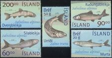 Iceland 2002 Trout/Charr/Fish/Fishing/Nature/Wildlife/Conservation 5v set s1946