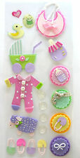 Baby girl embellishment stickers, Cardmaking, Crafts, Scrapbooking.