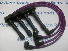 PURPLE 8MM PERFORMANCE IGNITION LEADS WILL FIT HONDA CIVIC B16 B18 DOHC ENGINES