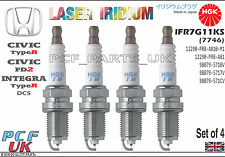 Ngk iridium spark plug honda civic type r FD2 integra type r IFR7G-11KS lot de 4