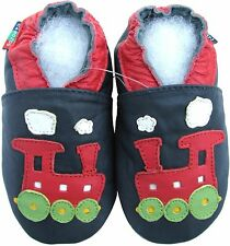 shoeszoo soft sole leather baby shoes train dark blue 12-18m S