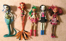 Lot of 5x Monster High Ever After High Dolls with Clothes