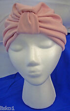 Womens 100% Cotton Turban, Chemotherapy-Cancer Head wrap, Soft,  (pink)