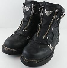 HARLEY DAVIDSON Mens BRAKE LIGHT Motorcycle Biker Black Boots 91680 Size 8.5