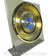 GMT Weltzeit Uhr 60er 70er modernist World Time Zone Desk Clock Japan vintage