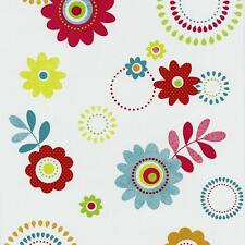 P&S FLOWER PATTERN RETRO HIPPY FLOWERS MOTIF EMBOSSED VINYL WALLPAPER 05560-20