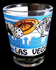 "Shot Glass Shooter LAS VEGAS Dice Cards Roulette & Palm Tree 2-1/4"" Shooter"