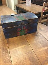 Antique Vintage Hungarian Old Pine Box From Budapest European Collectable Rustic