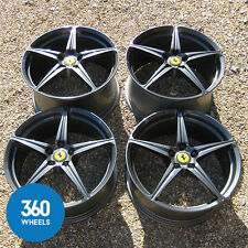 "GENUINE FERRARI 458 20"" ITALIA SPIDER CHALLENGE FORGED SPORT ALLOY WHEELS GREY"