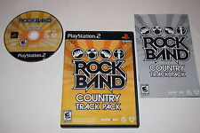 Rock Band Country Track Pack Sony Playstation 2 PS2 Video Game Complete