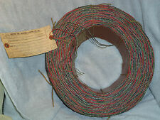 22 GAUGE CLOTH, SILK 4-WIRE LATE 40'S EARLY 50'S WIRE...6000 TOTAL FEET OF WIRE