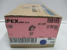"""3/4"""" CPVC SCH80 45 Degree Elbow (Box of 30) IPEX 059165 - Made In USA - NEW"""