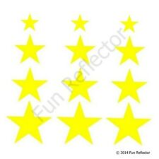 Yellow Stars Bicycle Reflective Stickers Decals