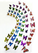 5 set of 60 Beautiful Butterfly Refrigerator Magnets Wall Sticker