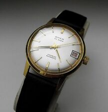 VINTAGE OMER SWISS GOLD PLATED 25 JEWEL AUTOMATIC GENTS WATCH 1960S,
