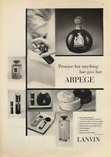 "1962 Lanvin ""Arpege""  Vintage Perfume Gifts sets Spray Bottle PRINT AD"
