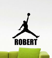 Custom Name Air Jordan Wall Decal Basketball Art Personalized Vinyl Sticker 482n