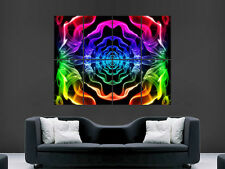 ABSTRACT COLOUR SMOKE SPECTRUM PSYCHEDELIC  ART WALL LARGE IMAGE GIANT POSTER