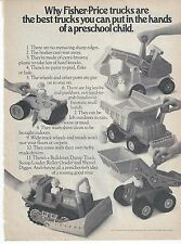 Fisher-Price Trucks 1977 Magazine Ad B&W Print Advertising Preschool Child Toy