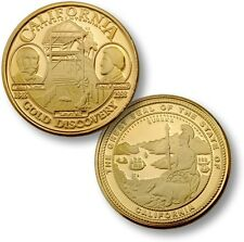 California Gold Discovery Challenge Coin Sutter's Mill Golden State Gold Rush CA