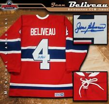JEAN BELIVEAU Signed Montreal Canadiens Red Vintage CCM Jersey